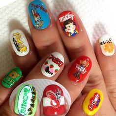 #nail #nails #nailart #nailswag #nailpolish #nailstagram #naildesign #nailporn #japan #japanese #japanesefood #art #artist #artwork #handpainted #handdrawing #ネイル #ネイルアート #お菓子ネイル #個性派ネイル #痛ネイル #お菓子 #sweets #スイーツ #手描き #駄菓子 #チョコ
