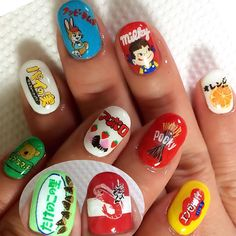 #nail #nails #nailart #nailswag #nailpolish #nailstagram #naildesign #nailporn #japan #japanese #japanesefood #art #artist #artwork #handpainted #handdrawing #ネイル #ネイルアート #お菓子ネイル #個性派ネイル #痛ネイル #お菓子 #sweets #スイーツ #手描き #駄菓子 #チョコ