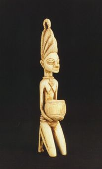Yoruba Ivory Sculpture of a Kneeling Woman Origin: South-Western Nigeria Circa: 20 th Century AD Dimensions: high x wide Collection: African Medium: Ivory Yoruba People, Art Africain, Large Art, African Art, Westerns, Egypt, Minerals, Contemporary Art, Gems