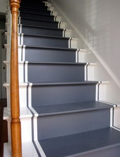 Best Paint For Stairs Shabby-Chic Style Staircase