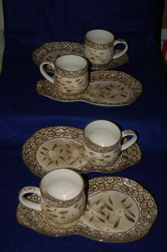 Temptations OvenWare Set of 4 Soup Sandwich Plate Coffee Mug Cup Old World Brown #TempTations
