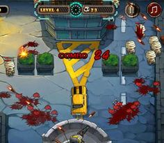 Blood form the dead zombies ! Do zombies even have blood ?  http://www.gamesplayzone.com/shooting/zombie-bullet-fly.html