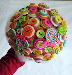 Lollipop Love Button Bouquet