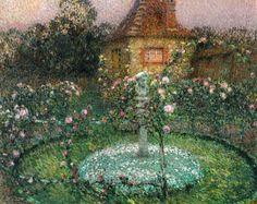 ❀ Blooming Brushwork ❀ - garden and still life flower paintings - Henri Le Sidaner