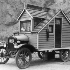 Vintage camper - the original tiny house on wheels!