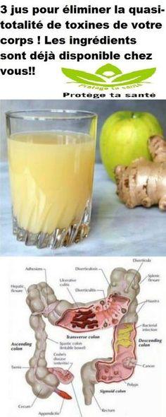 3 jus pour éliminer la quasi-totalité de toxines de votre corps ! Les ingrédients sont déjà disponible chez vous!!