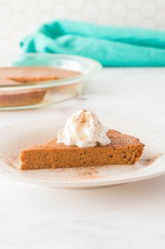 Crustless Pumpkin Pie - Made In 4 Easy Steps!