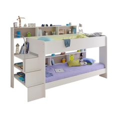 Stapelbed Bibop - Wit White Bunk Beds, Bunk Bed With Trundle, Full Bunk Beds, Set Of Drawers, Bed With Drawers, Short Bunk Beds, Triple Bunk Beds, Bunk Bed Designs, One Bed