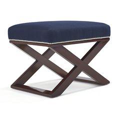 Cote D'Azur Cross-Braced Stool - Chairs / Ottomans - Furniture - Products - Ralph Lauren Home - RalphLaurenHome.com