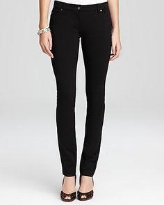 Eileen Fisher - Black Stretch Ponte Skinny Jeans