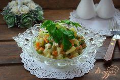 Немецкий салат с кальмаром и огурчиком - пошаговый рецепт с фото