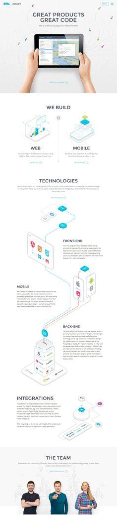 Railsware (More web design inspiration at topdesigninspiration.com) #design #web #webdesign #inspiration #sitedesign #responsive