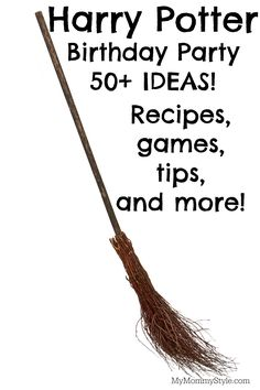 Harry Potter Birthday Party tips everything you would need to know, treats, cakes, invitations, games and more!                                                                                                                                                     More