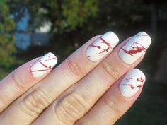 Concrete and Nail Polish: Dexter, Blood Spatter, Halloween Nails