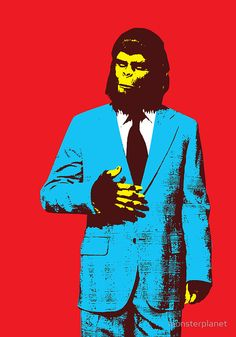 """Planet of the Apes, dressed for success"" by monsterplanet 