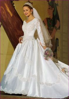 Pretty Wedding Dresses Gorgeous Dress Bridal Beautiful Satin Vintage Weddings Gowns