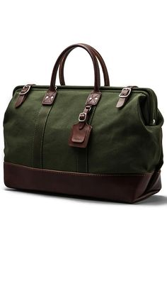166 Large Carryall in Olive With Brown Sack Bag, Revolve Clothing, Leather 294fd21955