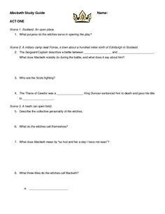 macbeth act i quiz macbeth teaching resources pinterest rh pinterest com Question and Answer Format Question and Answer Format