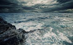скала, брызги, вода, море, волны, океан