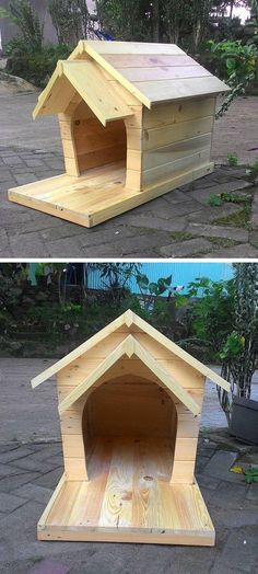 Free Dog House Plans Pdf - Free Dog House Plans Pdf , Modern Studio Shed Plans top View Wood Dog House, Pallet Dog House, Dog House Plans, Pallet Ideas Easy, Diy Pallet Projects, Palette Diy, Animal Projects, Animal House, Dog Houses