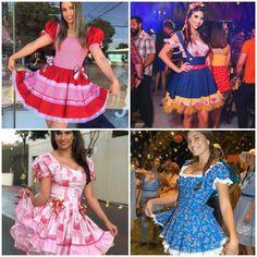 Vestidos para Festas Juninas | Como fazer em casa Summer Dresses, Decoupage, Fashion, Dress Making, Toddler Dress, Gorgeous Dress, Gnomes, Pillows, Sew