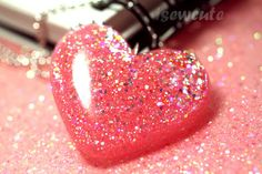 resin+glitter+heart+pink+sugar+necklace+by+isewcute.jpg (800×533)