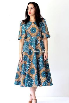The Most Beautiful Ankara Gown Styles of 2018 African Print Dresses, African Dresses For Women, African Print Fashion, African Wear, African Attire, African Fashion Dresses, African Women, Beautiful Ankara Gowns, African Blouses