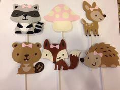 Items similar to Fondant Woodland Animal Cupcake Toppers Forest Friends on Etsy Woodland Animals Theme, Woodland Baby, Baby Girl Shower Themes, Baby Boy Shower, Baby Showers, Batman Cupcake, Animal Cupcakes, Baby Girl First Birthday, Baby Shower Cupcakes