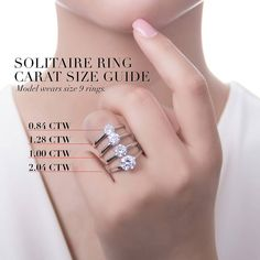 This solitaire ring flaunts a simple yet dazzling center stone with a subtle twist. Made of rhodium plated fine 925 sterling silver. Set with carat round cut clear cubic zirconia in setting. 1 Carat Engagement Rings, Engagement Ring Shapes, Wedding Ring Finger, Art Deco Wedding Rings, Marquise, Eternity Ring, White Gold Rings, Unique Rings, Diamond Rings