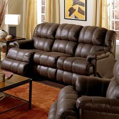 Palliser Furniture Harlow  Reclining Sofa Upholstery: Bonded Leather - Champion Onyx, Leather Type: Bonded Leather, Type: Power
