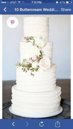 Textured buttercream four tier cake