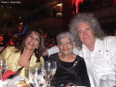 Embedded image permalink Freddie's Mom and Sis with Brian May!