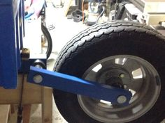 Trailer Build, Trailer Hitch, Garage Bedroom Conversion, Pull Behind Trailer, Homemade Trailer, Boat Wheel, Motorcycle Trailer, The Hard Way, Blue Box