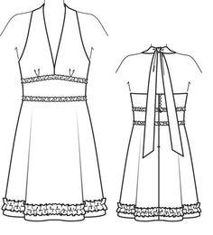 Burda Addicts | Les fans des patrons Burda | Page 5 Burda Patterns, Flat Sketches, Drawing Clothes, Petite Size, Mannequins, Designer Dresses, Fashion Dresses, Summer Dresses, Sewing