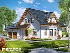 gotowy projekt Dom w tamaryszkach 2 Rural House, Bungalow House Plans, Contemporary House Plans, Modern House Plans, Small Country Homes, One Storey House, Three Bedroom House Plan, Self Build Houses, Duplex House Design