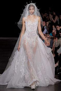 chiffon bride dress 2013