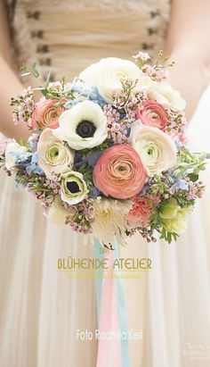 Wedding bouquet - flower ideas Wedding bouquet Wedding bouquet The post wedding bouquet appeared first on Blumen ideen. Bridal Bouquet Pink, Summer Wedding Bouquets, Bridal Flowers, Flower Bouquet Wedding, Floral Bouquets, Floral Wedding, Pastel Flowers, Lace Wedding, Wedding Dress