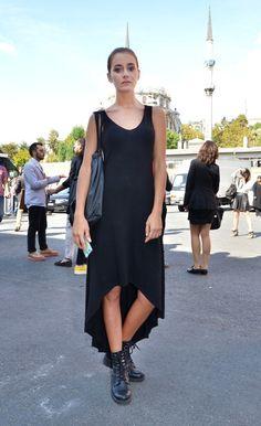 style 2. shorten to make a top w/ pants and kimono jacket Street Style #MBFWI