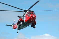 One of the Royal Navy's Sea King rescue helicopters, based at RNAS Culdrose, Helston