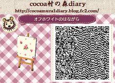 cocoa村の森diary (とびだせどうぶつの森) レトロな花柄のファブリック