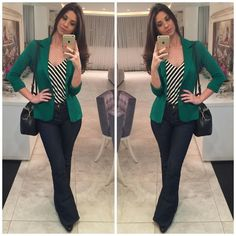 How to rock the casual chic look Work Fashion, Fashion Looks, Fashion Outfits, Womens Fashion, Hijab Fashion, Casual Chic, Work Casual, Look Office, Look Blazer