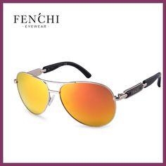 Fenchi 2017 sunglasses metal hot rays driver pilot mirror fashion design new colourful sunglasses high quality