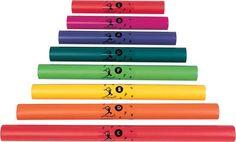 Kennen de kinderen geen noten? Geen probleem. Elke buis heeft een kleur en staat voor een toon. Maak zo leuke melodietjes zonder notenleerkennis met de hele klas!