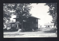 vtg 1950s real photo postcard port austin michigan sportsman inn