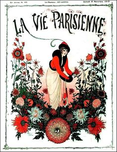 La Vie Parisienne Woman w Tall Flowers November 8, 1913 Armand Vallée