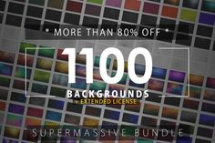 1100 Backgrounds BUNDLE *80%OFF* by ArtistMef on Creative Market