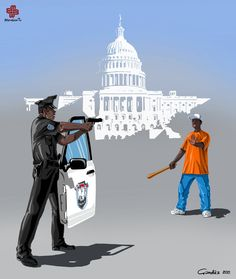 Satirical Illustrations Of Police Officers Around The World   Bored Panda