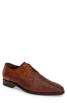 Sendra 'Savannah' Woven Leather Oxford (Men) available at #Nordstrom