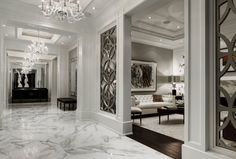 marble flooring 40 Stunning and Clean White Marble Floor Living Room Design Classic Interior, Home Interior Design, Interior Decorating, Living Room Designs, Living Room Decor, Design Case, Luxury Living, Home Decor Inspiration, Design Inspiration
