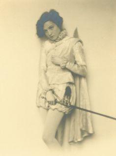 The Actress Elisabeth Bergner as Hamlet  1927